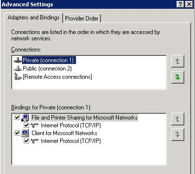 Windows 2008 server network cards or network drivers